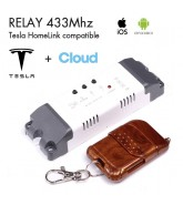 Relais 433Mhz + Cloud NO pour Tesla HomeLink compatible