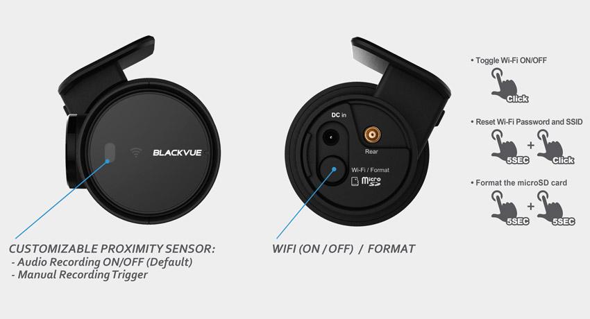 Blackvue-dash-cam-dr750s-2ch-button-proximité-capteur