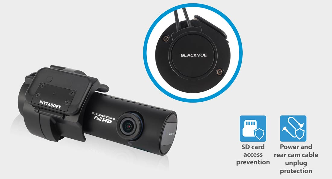 Blackvue-tamper-proof-case-dash-cam-sd-card-accès-prévention